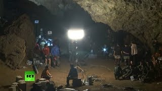 Thai forces search football team missing in cave complex