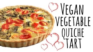 Simple Vegan Quiche Tart Recipe | ASMR
