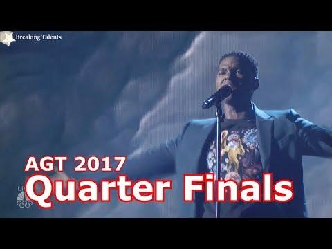 Johnny Manuel soars with  I'm Telling You w Judges Comments Quarter Finals America's Got Talent 2017