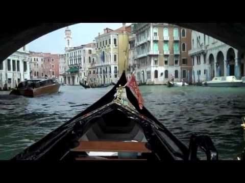 gondala ride through the canals of venice italy, rialto bridge, grand canal