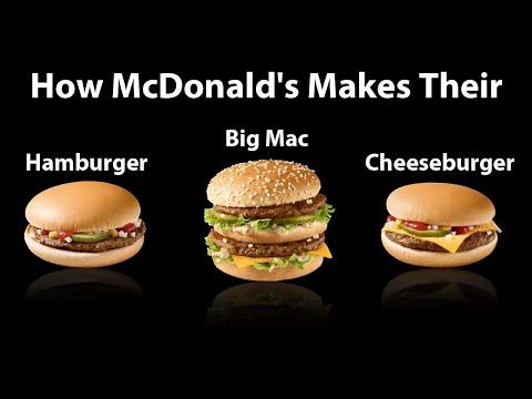 How Big Mac Cheeseburger Hamburger are made in McDonalds