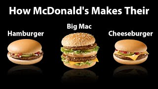 How Big Mac, Cheeseburger, Hamburger are made in McDonalds