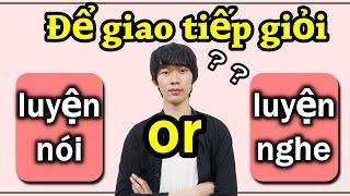 [Học tiếng Nhật] Để giỏi tiếng Nhật thì luyện nghe hay luyện nói??? ー 聞き上手は会話上手?