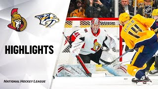NHL Highlights | Senators @ Predators 2/25/20
