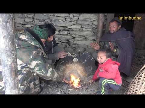 himalayan life in winter season    lajimbudha   
