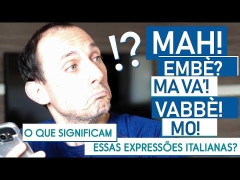 O que significam essas expressões italianas? I Italiano do dia a dia