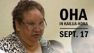 OHA in Kona: Chair Colette Machado On Ka