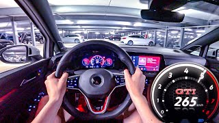 2020 VW GOLF 8 GTI 245HP NIGHT POV DRIVE Onboard (60FPS)