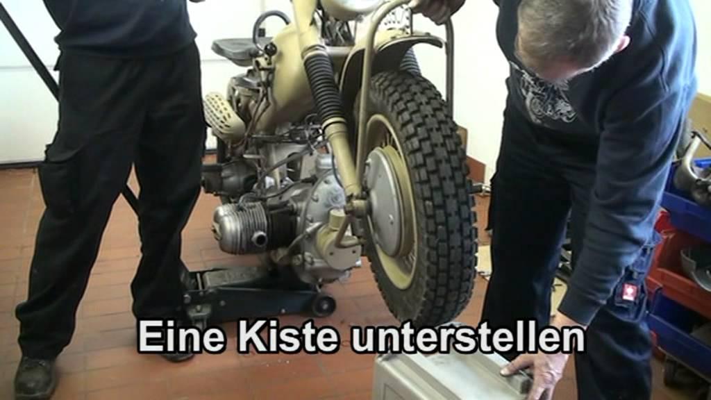 03 Technik Bmw R75 Von 1941 1945 Motor Ausbauen