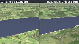 x Plane 11  Standard Texture vs Global Earth  Review  English