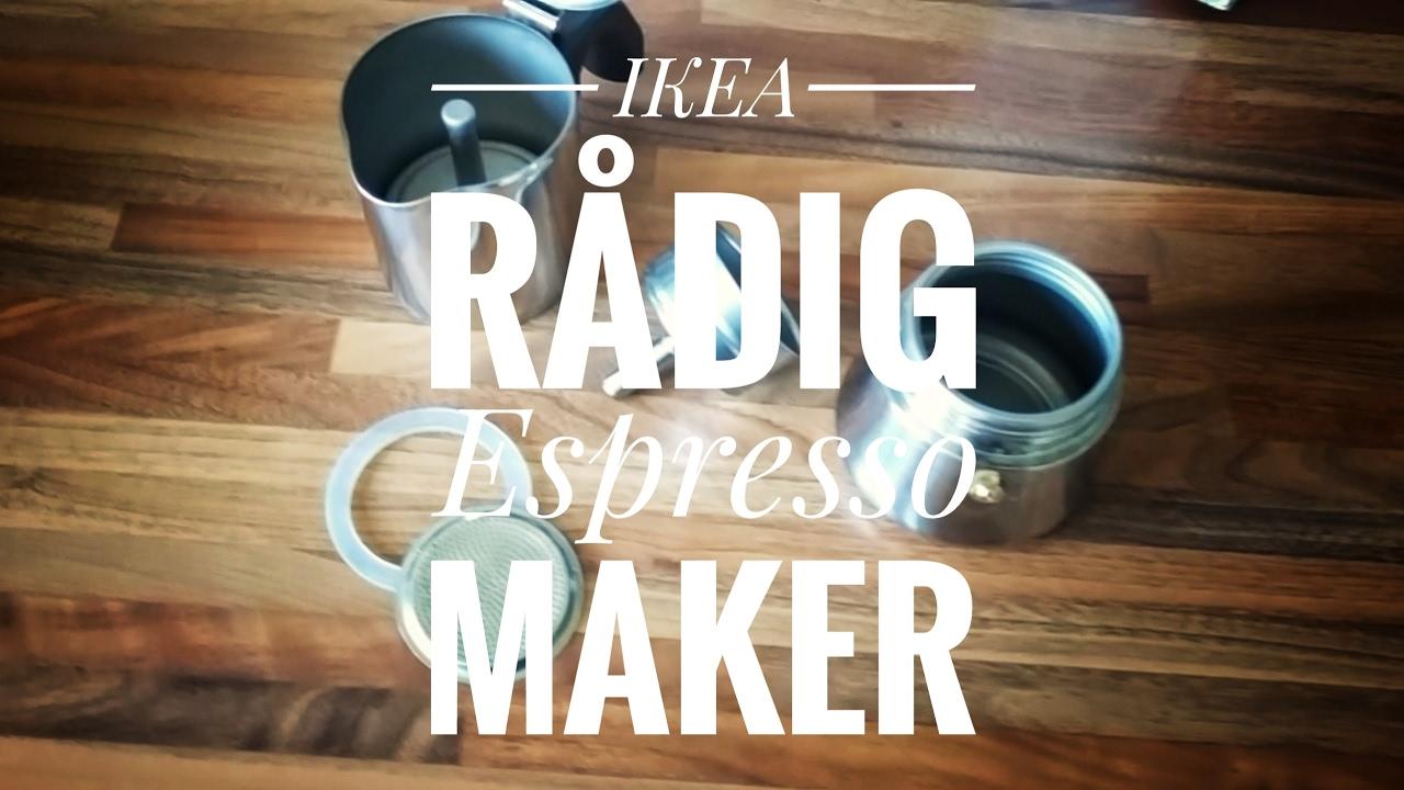 Ikea RÅdig Espresso Maker Overview And Explanation