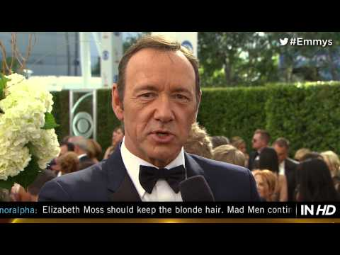 House of Cards' Kevin Spacey on the 2013 Emmy red carpet