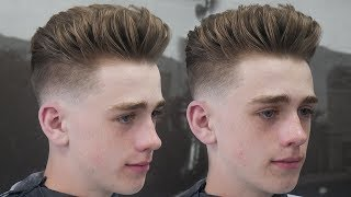CLASSIC SLICK BACK HAIRCUT TUTORIAL || HOW TO DO A LOW FADE