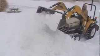 cub cadet 7305 moving snow