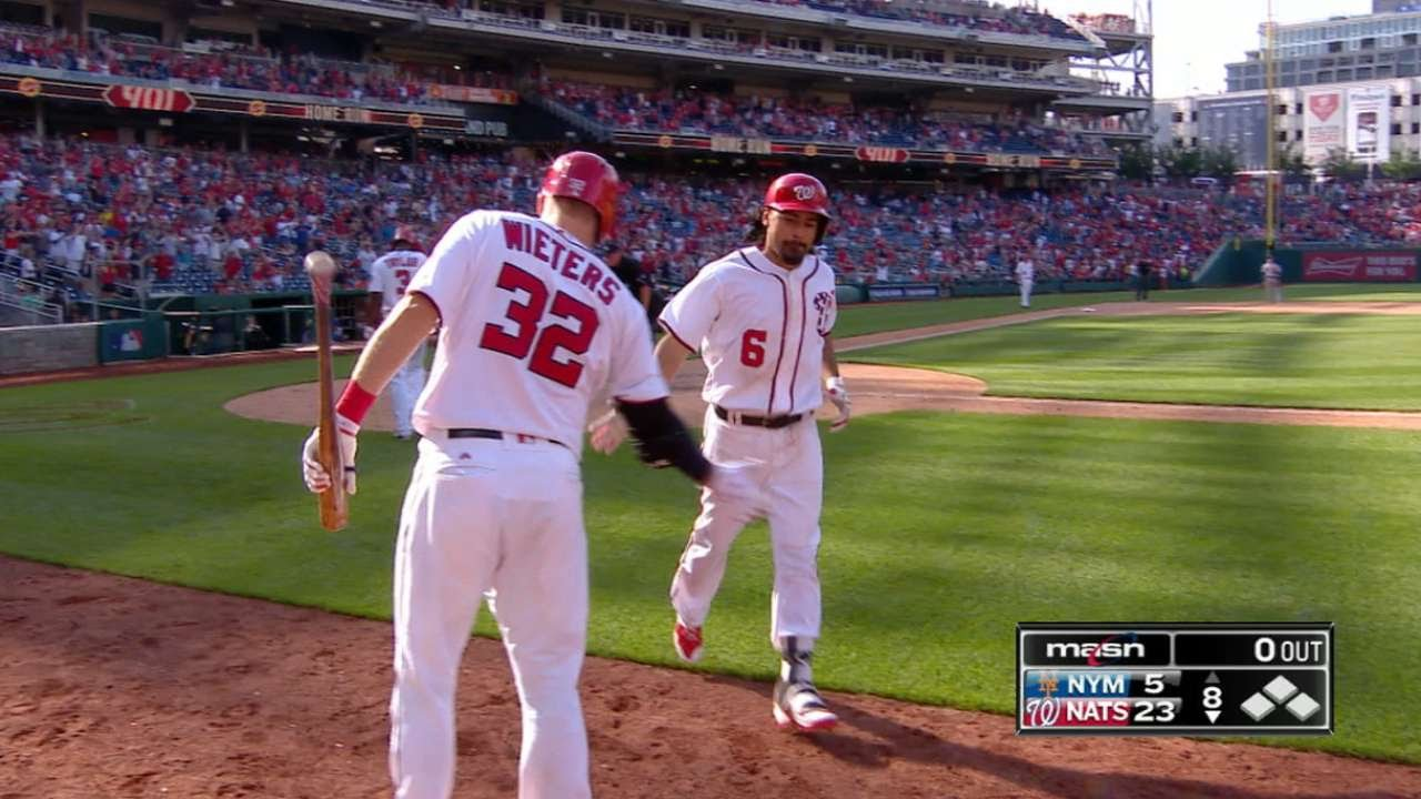 Nationals' Anthony Rendon has three homers, 10 RBI in historic rout