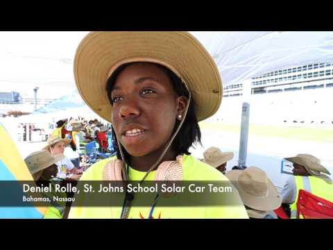 Solar Car Challenge racers at Texas Motor Speedway