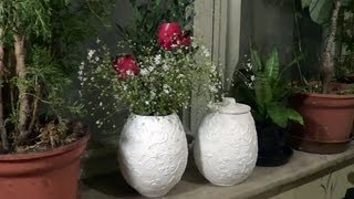 Vasos e potes de jornal (Vases and pots from newspaper) – Part 1