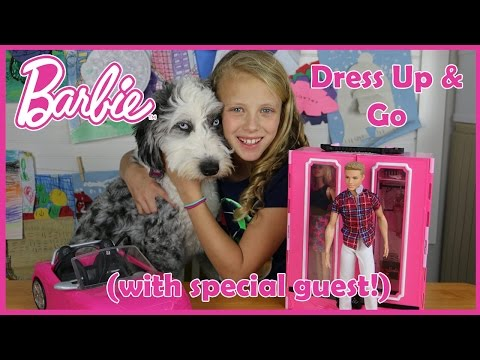 Barbie Dress Up & Go Doll Play Set Unboxing Review by Baby Gizmo