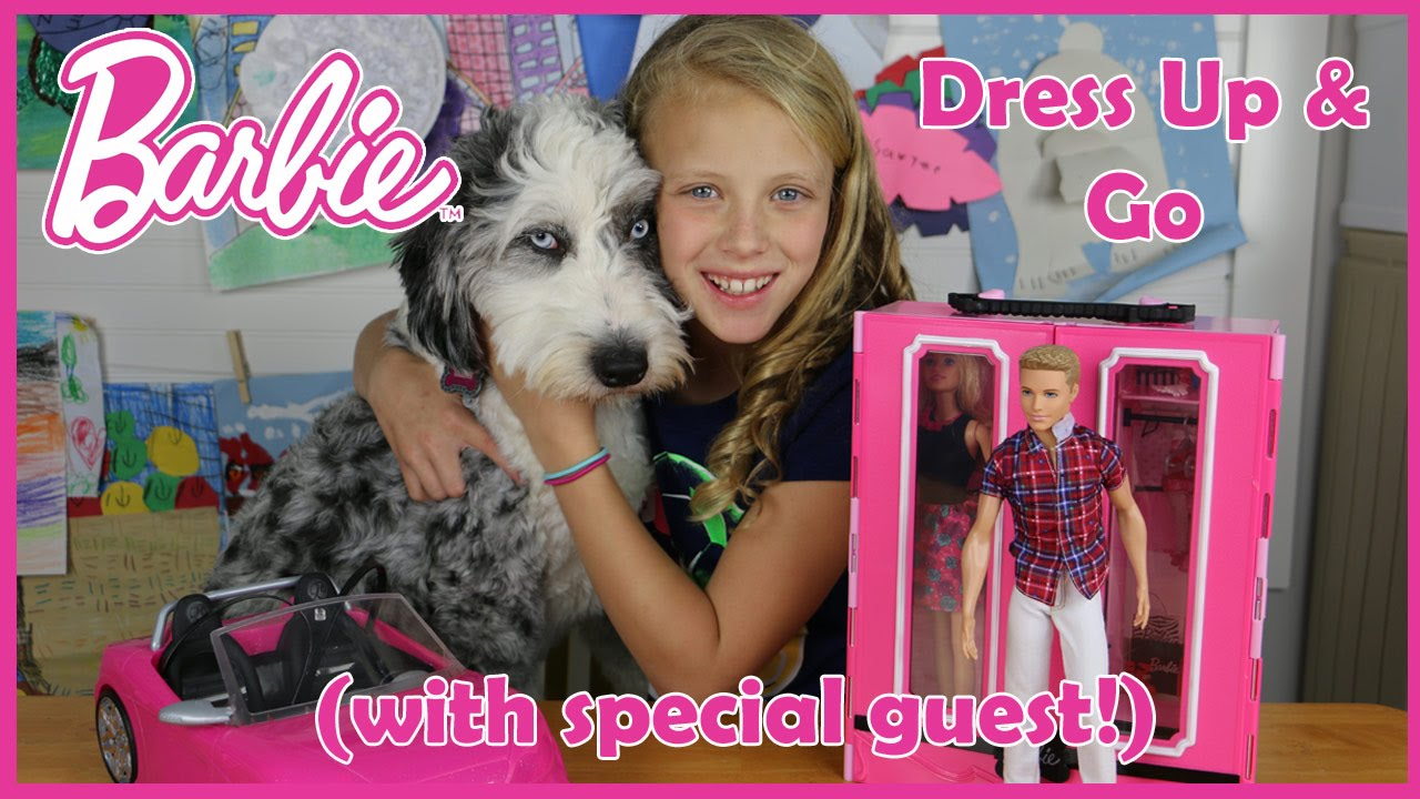 Barbie Dress Up Amp Go Doll Play Set Unboxing Review By Baby