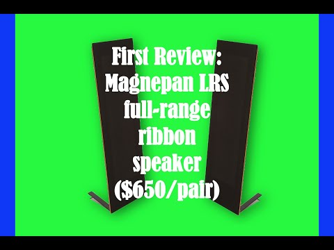 First review: Magnepan's extraordinary LRS ribbon speakers ($650/pair)