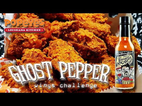(24) GHOST PEPPER WINGS w/ ZOMBIE APOCALYPSE SAUCE │ Popeye's Louisiana Chicken