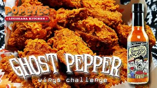 GHOST PEPPER WINGS w/ ZOMBIE APOCALYPSE SAUCE │ Popeye's Louisiana Chicken