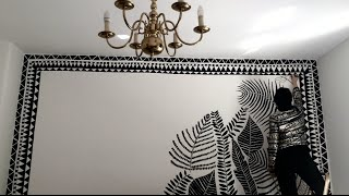 Wall painting & Mural Speed Painting. Creative Motivation for Art, Illustration and Design