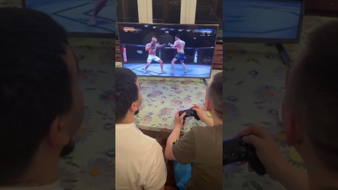 Усатый отрывает культяпки дяде фёдору в UFC