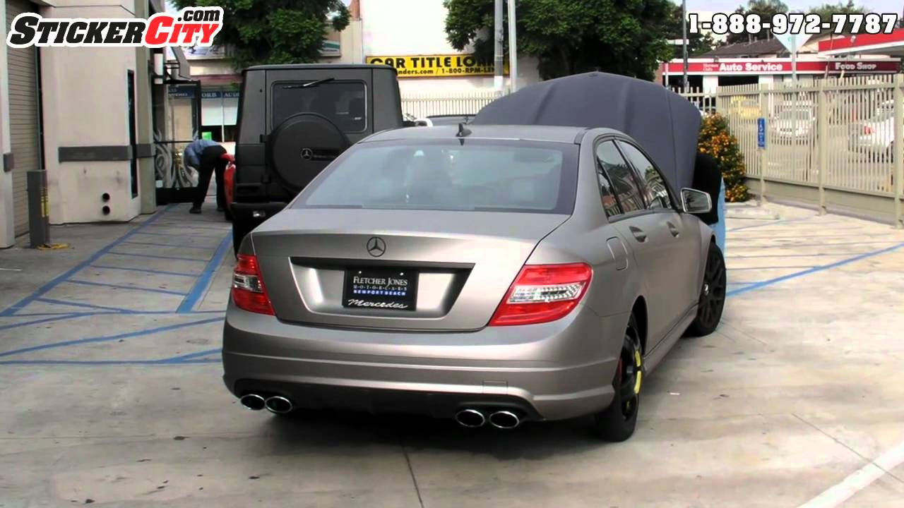 Matte Gray Aluminum Mercedes C Class Car Wrap Youtube