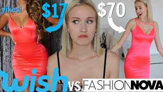BUYING THE SAME ITEMS FROM WISH VS. FASHION NOVA...WHICH IS BETTER?