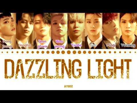 ATEEZ - 'Dazzling Light' (Color Coded Lyrics Eng/Rom/Han/가사) (에이티즈)
