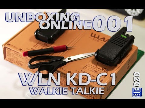 CHEAP AND RELIABLE WLN KD C1 WALKIE TALKIE AND QUICK TEST