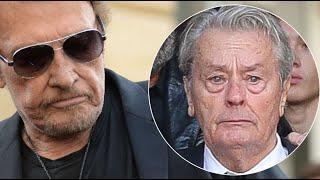 Johnny Hallyday: son geste très émouvant pour Alain Delon en larmes lors des...
