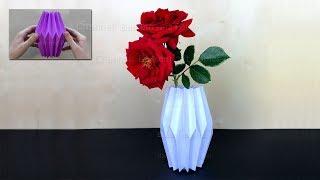 Basteln: Vase basteln mit Papier - Deko selber machen - DIY Bastelideen Video