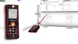 видео Лазерный дальномер-рулетка Leica Disto D3a