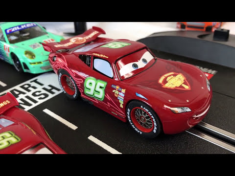 NEON LIGHTNING McQUEEN Carrera Digital 132 Slot Car Disney Pixar Cars