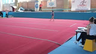 Вольные. Первый юношеский разряд. Милана Верзилова 6 лет. Спортивная гимнастика.