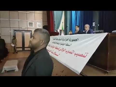 الجلفة شاب يعترض على عملية تنصيب المندوبية الولائية لمراقبة الإنتخابات