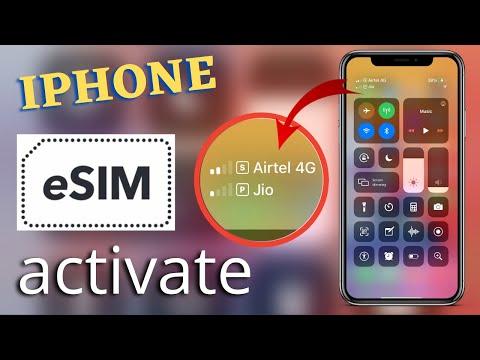 How To Activate Airtel Esim On Iphone 10s Max Iphone Dual Sim Setup Airtel Esim Plan Dual Sim Setup