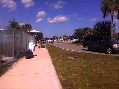 Walking to JAX Port in jacksonville fl