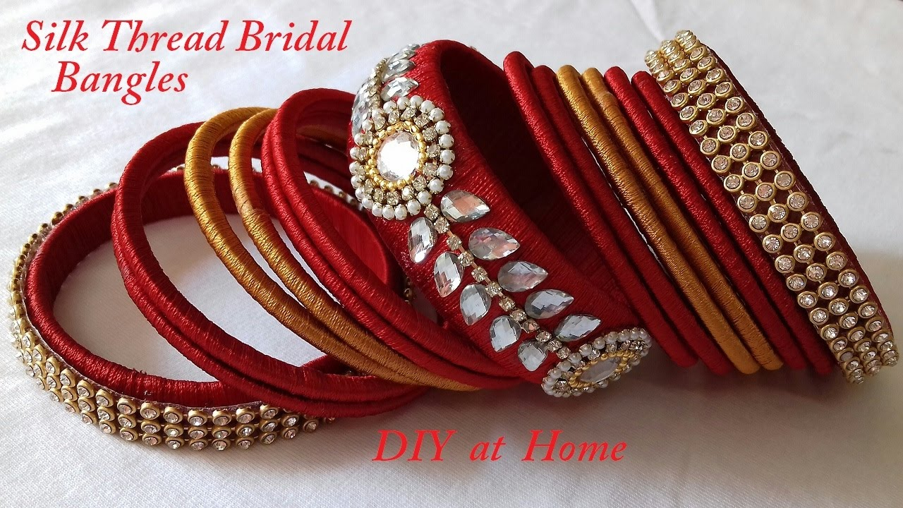 How to make silk thread bangles and earrings at home