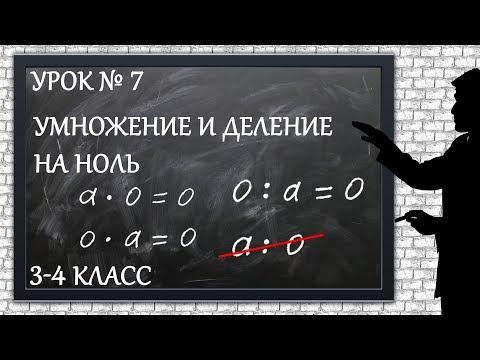 Изучаем математику с нуля / Урок № 7 / Умножение и деление на ноль