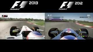 F1 2013 vs F1 2012 | Graphics Comparison - Silverstone | HD