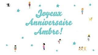 Baixar ♫ Joyeux Anniversaire Ambre! ♫