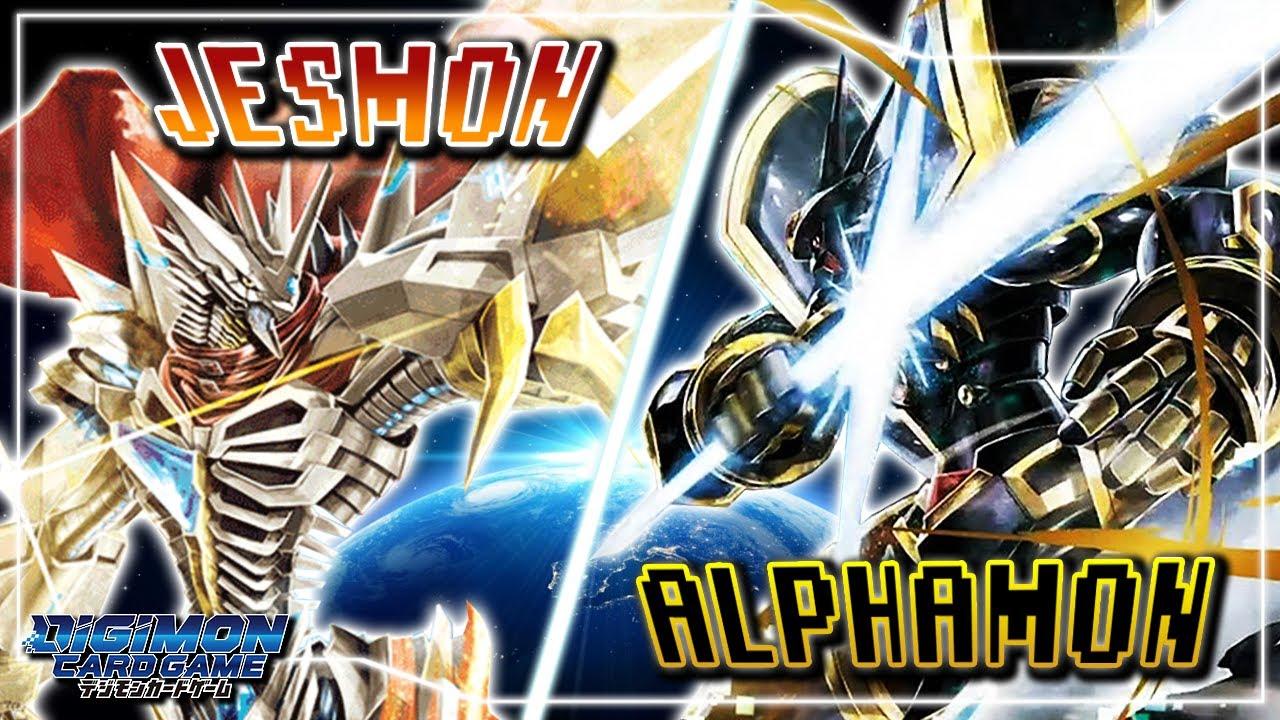 Digimon Card Game : Jesmon (Red) VS Alphamon (Black)