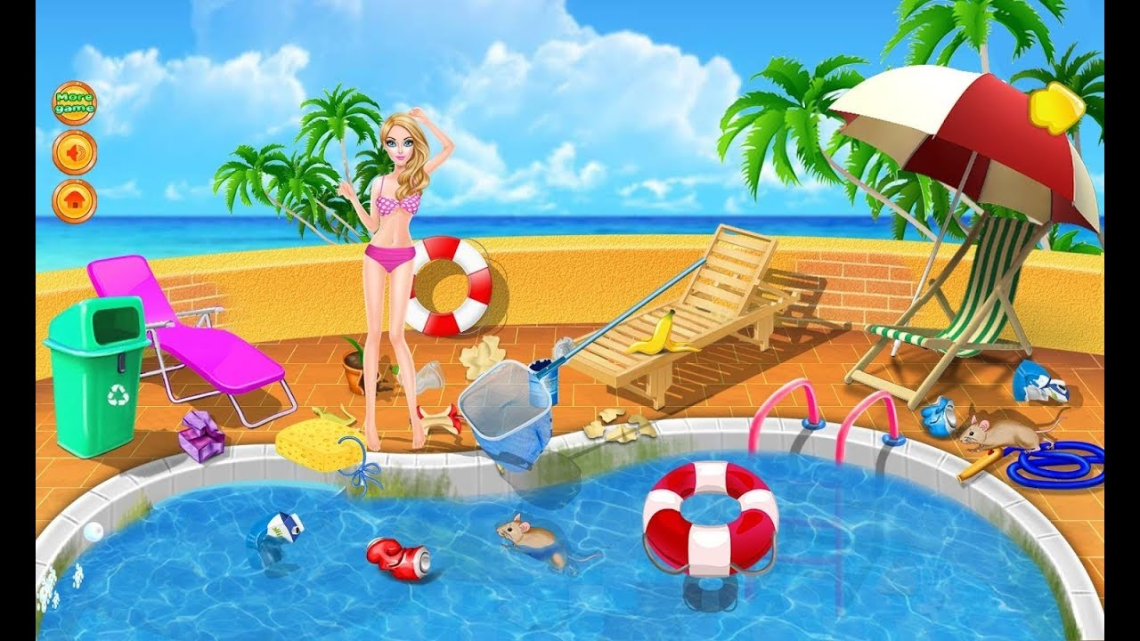Swimming Pool Party Cartoon