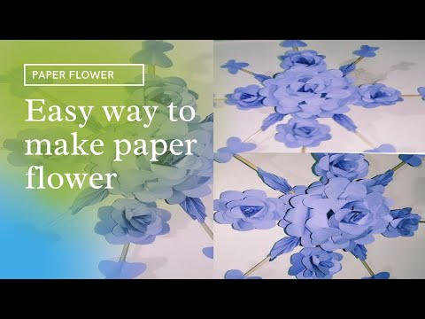 How to make Paper Flower Wall Hanging /tutorial #40