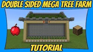 How To Build A Mega Oak Tree Farm | Double Sided [Minecraft Bedrock Edition]