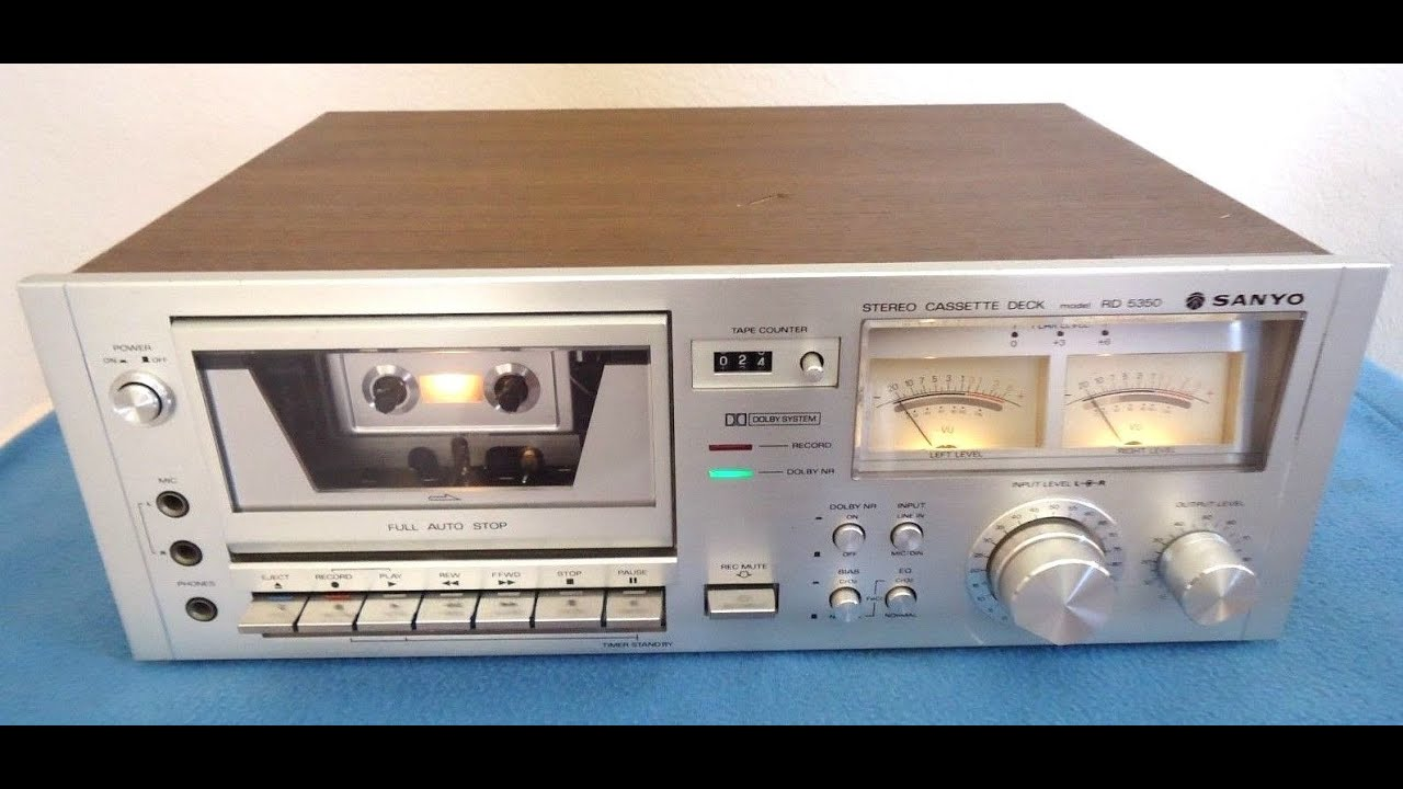 Sanyo Vintage Original 4 Channel Stereo Music System Dxt