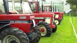Classic IH Farmall Porsche Zetor farm tractors , Rijkevorsel , Belgium.